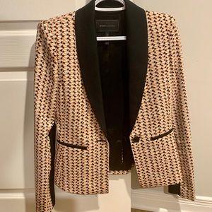 BCBG Sur Printed Shawl Collar Jacket